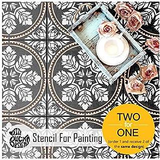 Edessa 瓷砖墙壁家具地板瓷砖模板用于绘画| 可定制尺寸 13 inches