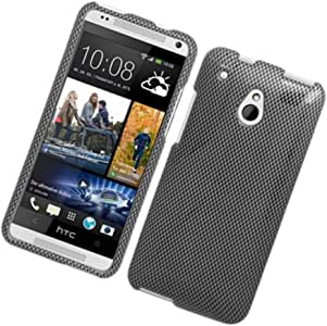 HTC One Mini 鹰*混合光泽保护壳 - 零售包装 - 碳纤维