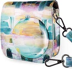 WOLVEN 图案保护套包钱包兼容 Fugifilm Mini 9、Mini 8、Mini 8、Mini 8+ 相机