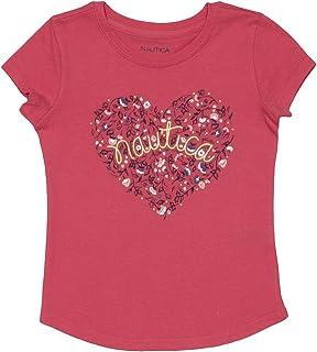 Nautica Girls' Heart Graphic Tee