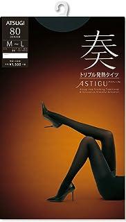 (厚木)ATSUGI 紧身裤袜 ASTIGU (ASTIGU)【奏】三重发热紧身裤袜 80D 黑色 L~~LL~