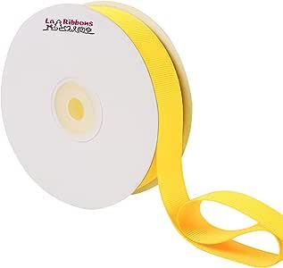 LaRibbons 7/8 英寸(约 2.22 厘米)宽罗缎丝带,25 码