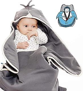 Wallaboo Coco 羽绒被,非常实用且柔软的婴儿被,100% 棉,90 x 70 厘米 Grey penguin