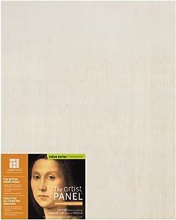 "Ampersand Art Supply Unprimed 木艺术家板 - 手工轮廓 7/8 Inch Depth 16""x20"" UPWP751620"