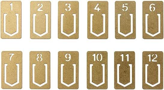 MIDORI 黃銅制 復古字母書簽