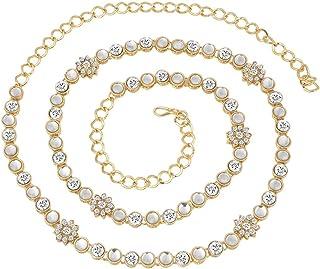 I Jewels 印度传统宝莱坞腰链 肚皮时尚腰带 适合女士和女孩 (B003W)