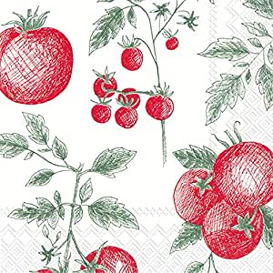 Boston International 餐巾纸 Pomodori 6.5 x 6.5-Inches L808000