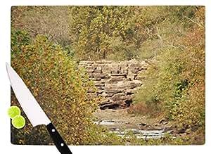 "KESS InHouse SC4110ACB01 Sylvia Coomes""In The Woods 4"" 绿色自然切割板,多色 多种颜色 11.5 x 8.25"" SC4110ACB01"