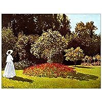 """ArtPlaza Woman in the Garden 装饰板-家长 47.3"""" x 35.5"""" AS92073"""