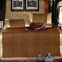 Xanlenss 轩蓝仕 天然植物精编藤席凉席两件套 凉而不冰空调席子 透气御草席 素雅纹精编凉席套件(经典格, 1.2米床(120 * 195cm)