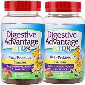 2瓶装|Schiff 旭福 Digestive Advantage益生菌 儿童软糖 60粒/瓶 益智健脑 美国品牌 包税