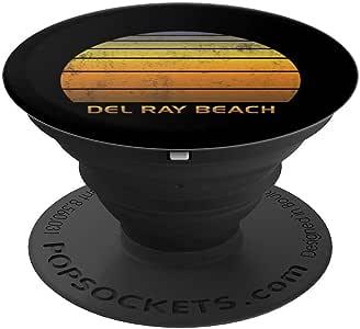 复古延迟海滩佛罗里达PopSockets 手机和平板电脑260027  黑色