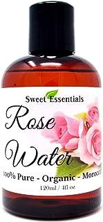 优质有机摩洛哥玫瑰水 - 113.4 克 - 从摩洛哥进口 - * 纯(食品级)不含油或*精 - 富含维生素 A 和 C 的维生素 C 非常适合复活、补水、振兴面部和颈部。