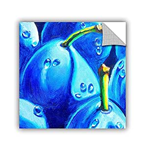 """ArtWall Susi Franco's Plum Juicy Dew Drops Art Appeelz Removable Graphic Wall Art, 14 by 14"""""""