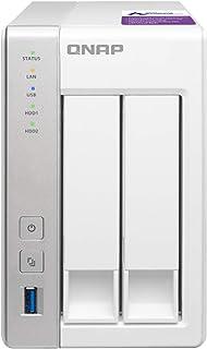 QNAP(キューナップ) TS-231P 専用OS QTS搭載 デュアルコア1.7GHz CPU 1GBメモリ 2ベイ ホーム&SOHO向け プライベートクラウド機能対応 NAS 2年保証