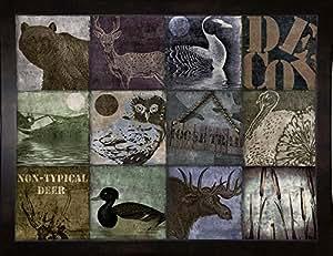 Frame USA Hunting Season V 镶框印刷品 45.72 厘米 x 60.96 厘米 Bakery-COLBAK112971,45.72 x 60.96 厘米,实惠黑色中号