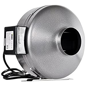 iPower High CFM Inline Ducting Fan for Hydroponics Applications 8-Inch