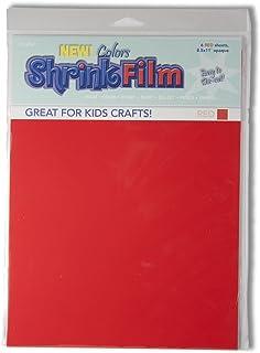 Grafix KSF6-R 8-1/2-Inch by 11-Inch Shrink Film, Red, 6-Pack