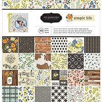 American Crafts 733525 Jen Hadfield 简单生活纸垫 12 X 12 48 张纸垫