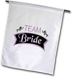 inspirationzstore occasions–TEAM 粉色黑色 BRIDE–FUN pre-wedding 女孩 NIGHT OUT–伴娘 bachelorette HEN 派对–旗帜 12 x 18 inch Garden Flag