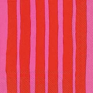 Boston International 餐巾纸 Raide Red Pink 6.5 x 6.5-Inches