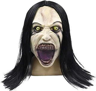 Cafele La Llorona 面具恐怖僵尸鬼面具带*适用于万圣节派对(La Llorona 面具)