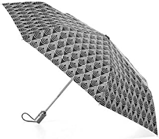 totes 自动开合 NeverWet 雨伞,雨滴状态黑色和白色,43 英寸覆盖范围