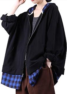 yesno JBK 女式长款宽松长裙图案 t 恤民族印花侧开叉流苏/口袋