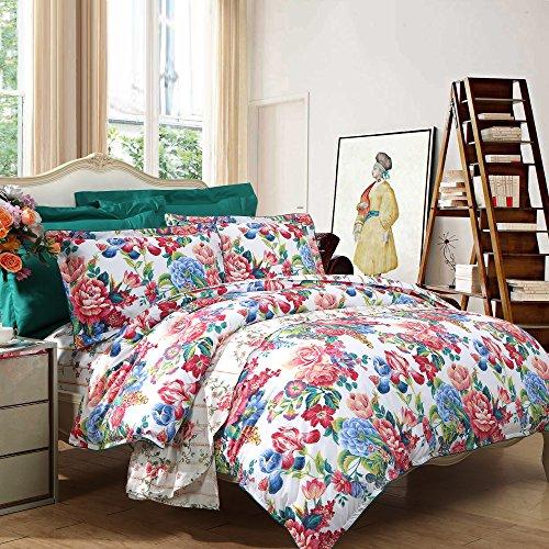 富安娜家纺 全棉四件套纯棉床上用品 倾城之魅 230*229cm 适用于1.