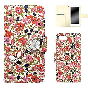 whitenuts 保护壳 手册式 花朵图案 蝴蝶装饰WN-OD159770 1_ iPhoneSE 粉色