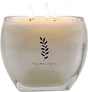 MILK+HONEYS 现代奢华大号精品蜡烛 - 443.50 克,3 根烛芯,* 大豆 White Tea Ginger 2