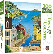 MasterPieces Town & Country A Walk on the Pier - Seaside Town Large 300 片 EZ Grip 拼图 Art Poulin 出品 行