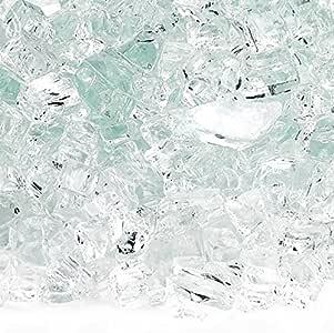 American Fireglass 10 磅防火玻璃,带壁炉玻璃和火坑玻璃 1/4 Inch x 10 Pounds AFF-CLR-10
