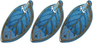 Minoru 陶器 筷架 木叶 Luli 6×3厘米 3个装
