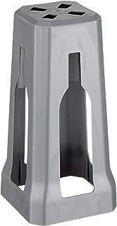 可用洗碗机清洗 - 酒杯保护 - 附件酒杯储存器/支架 - 酒杯保护器 - 水晶* 灰色 9.5 H x 4.5 W x 4.5 L Inches