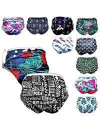 婴儿男孩可重复使用的游泳尿布(2 件装)均码可调节范围:新生儿 - 3 岁幼儿(*大 36 磅)