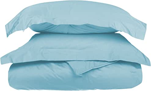 Impressions by Luxor Treasures Impressions 1000 Thread Count Premium Egyptian Cotton, Single Ply, King/California King Duvet Cover Set, Solid, Light Blue