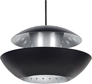 Tosel 15613 挂灯 Star Trek 钢板/环氧颜色 290 x 900 毫米 Noir/Aluminium 290 x 900 mm