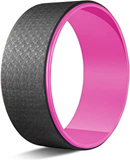 STRPRETTY BASIC 瑜伽滚轮适用于背部*,12.6 x 5 英寸(约 31.4 x 12.2 厘米)专业瑜伽轮,后轮非常适合拉伸和改善后弯