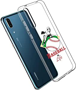 "Huawei P20 7"" 对开式 黑色 Clear - Baseball is Life"