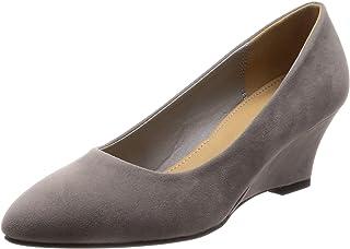 [LEVEL] 美脚效果◎的功能性超群5.5cm坡跟鞋 尖头浅口鞋/5451/SFW 绒面革 5451