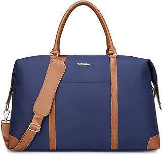 NNEE 大号超大防水尼龙旅行手提包/夜间旅行行李袋单肩包,带拉绳设计 *蓝