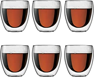 Bodum PAVINA Double Walled Thermo Glasses 0.25 L, 8 oz, Set of 6