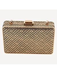 MICHAEL Michael Kors Women's Iridescent Box Clutch Gold