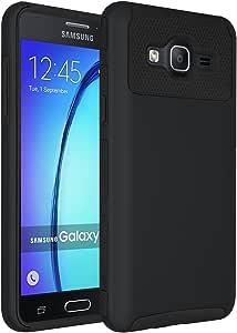 GALAXY On5手机壳, SAMSUNG G 550手机壳, anli ( TM ) [ 减震 ] 防摔混合双层装甲防护手机壳三星 Galaxy On5( 2015款 ) 黑色