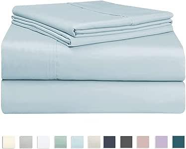 400支床单套装 long-staple 100% 棉床单套装棉缎编织 bedsheets 时尚20.32cm 下摆60.96cm 的袋深来自 pizuna linens