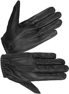 女士无衬里防水皮革手套驾驶和警察