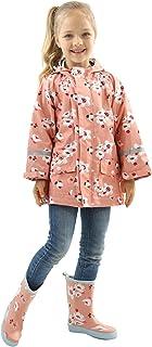 幼儿雨衣夹克女孩男孩双层雨衣防水连帽防水连帽夹克
