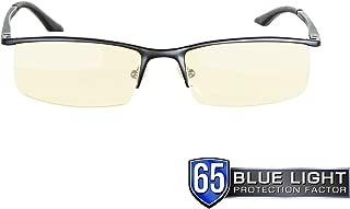 Gunnar Optiks Emissary 半框高级计算机眼镜镜片,方框眼镜,琥珀色 缟玛瑙色