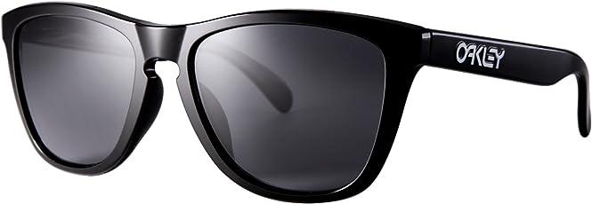 Oakley 欧克利 Frogskins系列 中性 时尚板材紫色镀膜炫彩墨镜太阳镜 009245-01-54 01黑框灰片 54